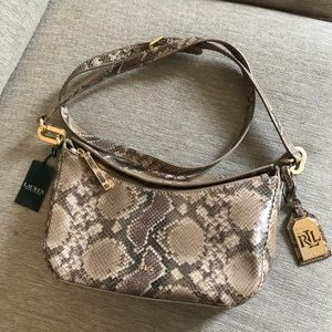 Ralph Lauren Bramfield Cait Python Crossbody Bag
